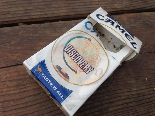 Found in the Melting Snow: Empty Pack of Smokes