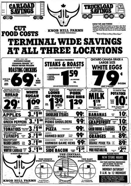 Vintage Ad: Terminal Wide Savings at Knob Hill Farms