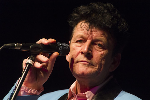 De zanger van Herman Brood coverband BrooT