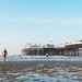 Early morning low tide swim at Brighton swimming club by lomokev