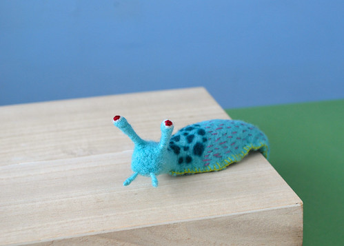 An Apologetic-Faced Blue Spotted Slug