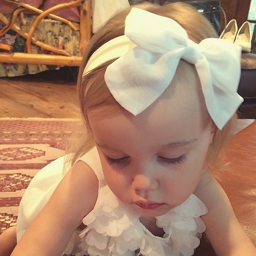 Flower girl is ready to make her debut! #audreycate #andersonweddingpart2