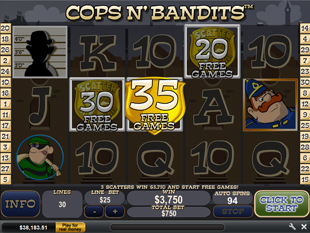 Cops and Bandits Gamble Feature