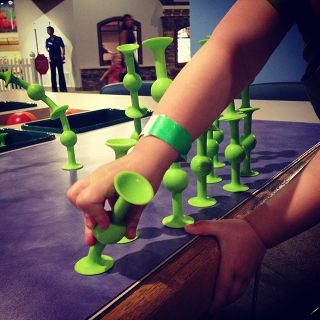 "Maddy loved these ""squigs"" (at the museum of play)"