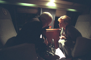Vice President Cheney and Lynne Cheney Aboard Marine Two