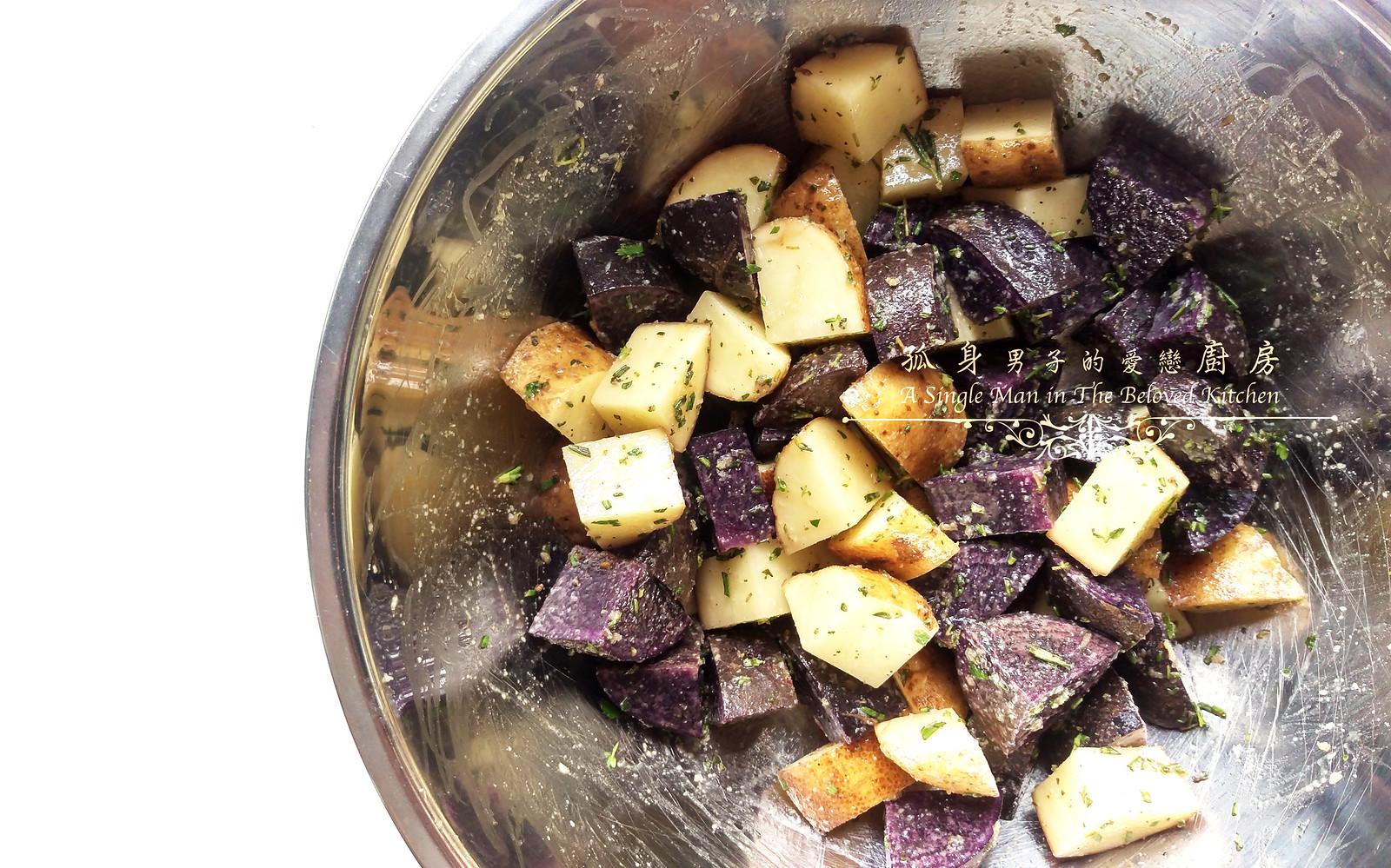 孤身廚房-香草烤雙色馬鈴薯──好吃又簡單的烤箱料理7