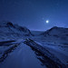 Starring Night at Icefield by Mengzhonghua