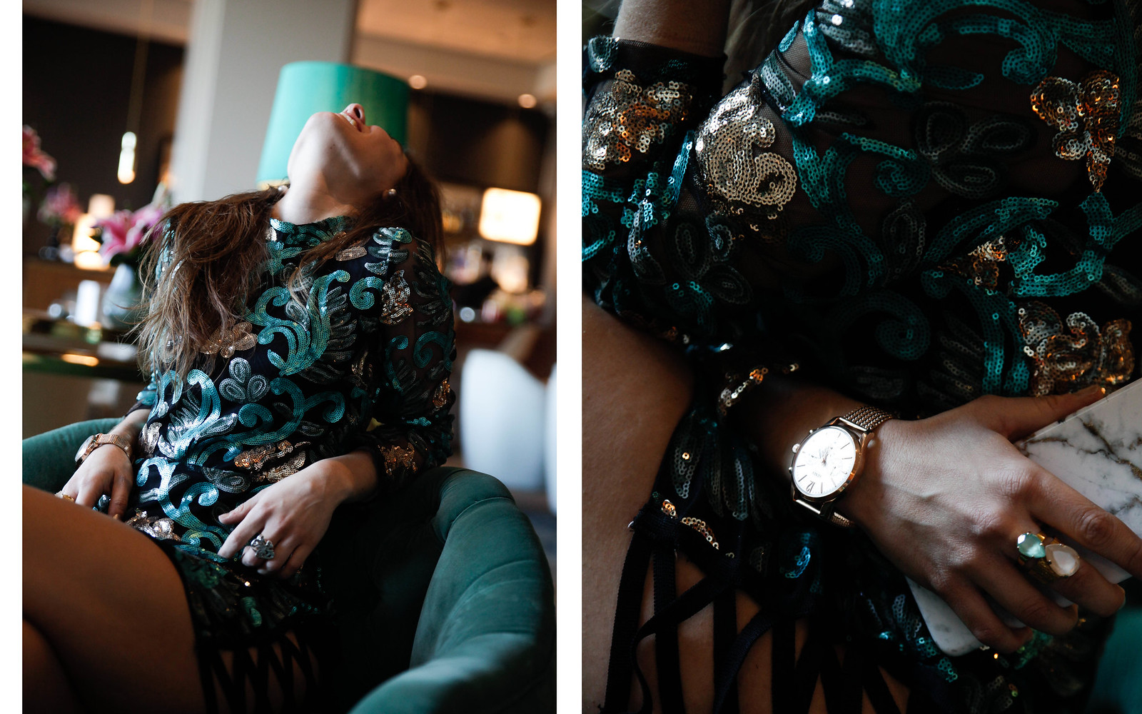 03_Green_sequins_dress_outfit_the_guest_girl_theguestgirl_laura_santolaria_fashion_blogger_danity_paris_influencer_barcelona
