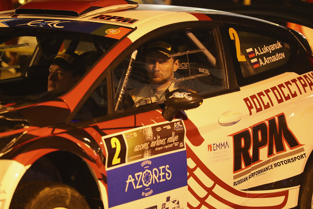 02 LUKYANUK Alexey ARNAUTOV Alexey Ford Fiesta R5 Ambiance Portrait during the 2017 European Rally Championship ERC Azores rally,  from March 30  to April 1, at Ponta Delgada Portugal - Photo Gregory Lenormand / DPPI