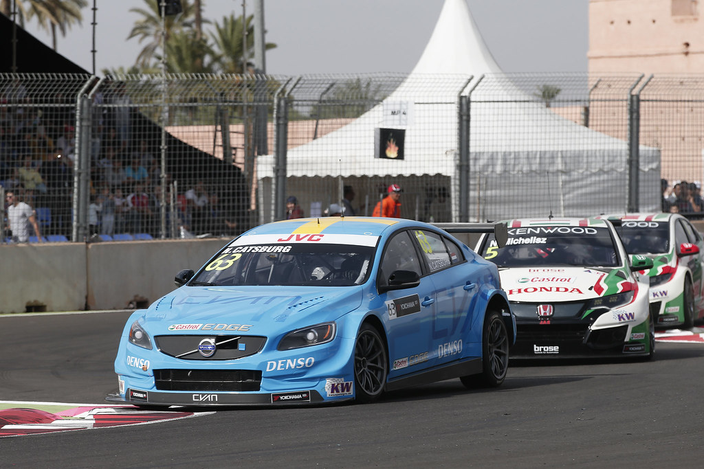 63 CATSBURG Nicky (ned) Volvo S60 Polestar team Polestar Cyan Racing action during the 2017 FIA WTCC World Touring Car Race of Morocco at Marrakech, from April 7 to 9 - Photo Jean Michel Le Meur / DPPI.