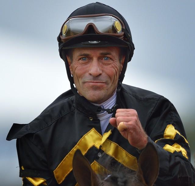 Winning Jockey Gary Stevens at the Preakness
