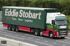 Volvo FH 6x2 Tractor - PX60 COA - Shirley Margaret - Eddie Stobart - M1 J10 Luton - Steven Gray - IMG_0134