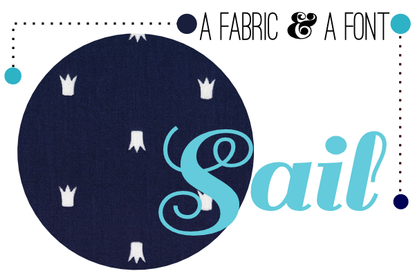 Fabric Paper Glue | Sail + Sarah Jane Let's Pretend When I Am King Navy