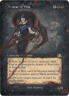 Avatar of Woe Altered art mtg magic the gathering card art rk post altered art mtg cards artwork magic artwork black card