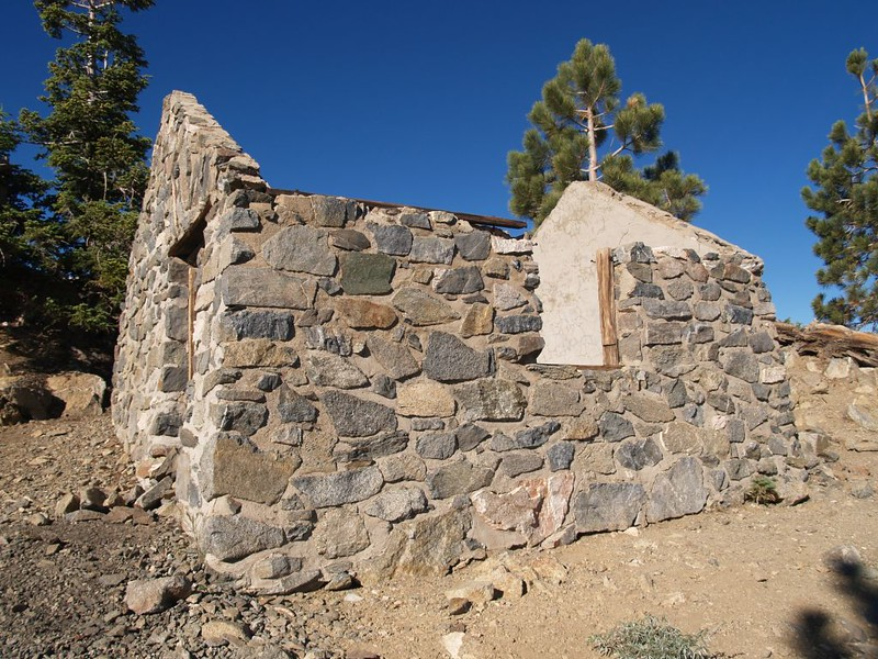 Old stone hut on the summit of Mount Islip