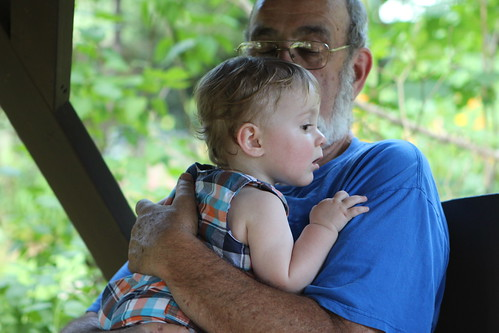 Grandpa Swinging with Martin