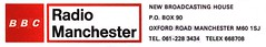 BBC Radio Manchester Letterhead 1977
