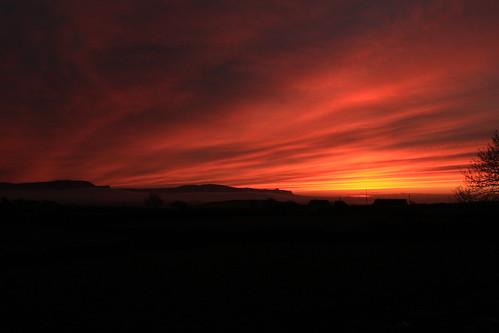 ireland sunset red donegal ballyshannon