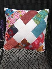 Simply Retro Vintage scrappy pillow by PinkDieselDesigns