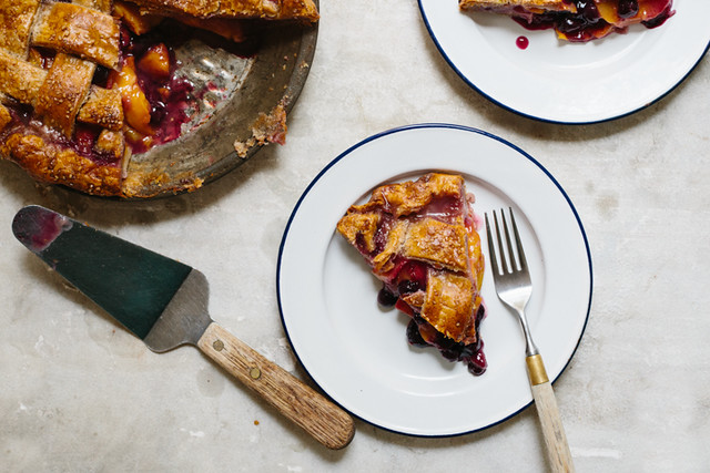 Peach and Blueberry Pie from Food52