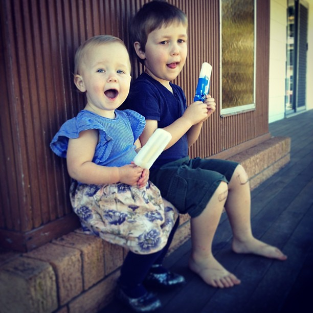 Ice block weather! #earlyspring #brisbane #happykids