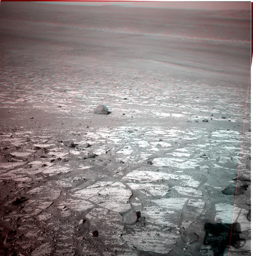 Opportunity sol 3399 NavCam anaglyph