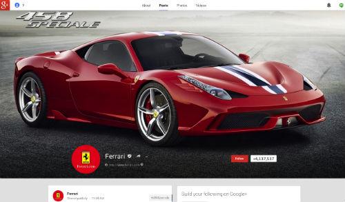 Ferrari Google+
