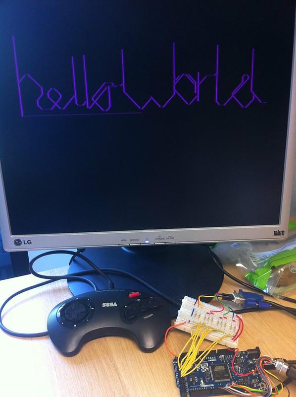 Arduino Due VGA Out Hello World