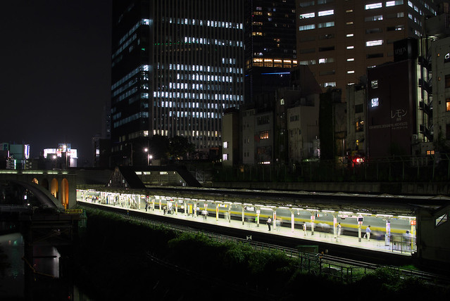 Tokyo Train Story 夜の御茶ノ水駅 2013年9月10日