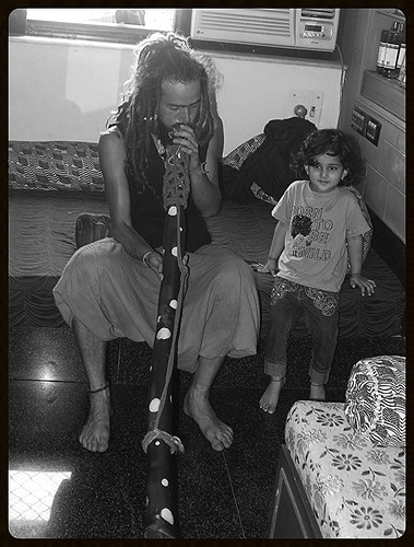 Marziya Shakir Learns the Didgeridoo From Da Mir Pan by firoze shakir photographerno1