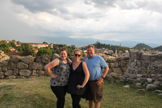 Dad, Char and me in Plovdiv on the Free Tour