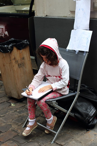 Young artist at work at Montmartre, Paris
