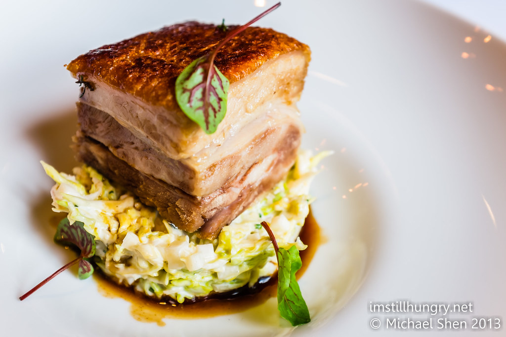 Crisp roasted pork belly w/celeriac & fennel remoulade ananas bar & brasserie