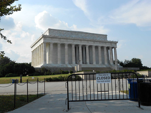 Lincoln Memorial:  Closed