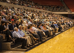 McCullough spoke to a crowd of about 2,000 people at Auburn Arena.