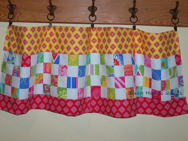 Custom Valance in Ooh La La Fabrics