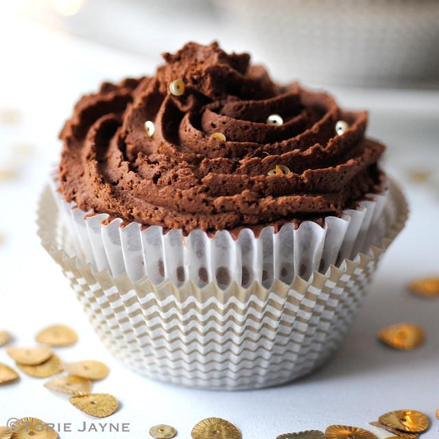 Gluten free Triple chocolate cheesecake cupcakes