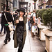 Small photo of Poasing Lady on 5th Avenue. NYC