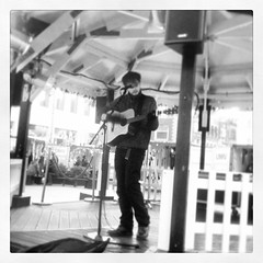 #chrismoore playing the #williamsonsquare stage #thresholdfest14
