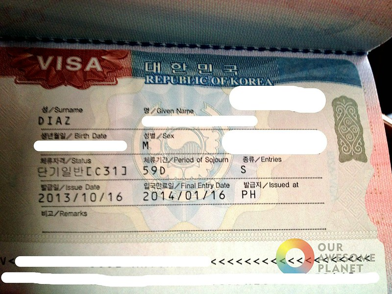 Korean visa how to apply for south korean visa in manila applying for a korean visa our awesome planet 10g altavistaventures Gallery