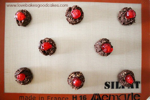 Chocolate Cherry Thumbprints 5