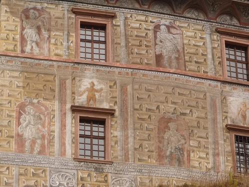Fachada del castillo de Cesky Krumlov