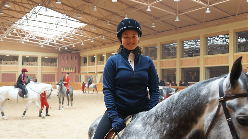 Andrea, First American to Ride at the Mirim Equestrian Riding Club