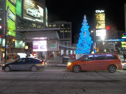 Yonge and Dundas Square, 7 pm, 31 December 2013