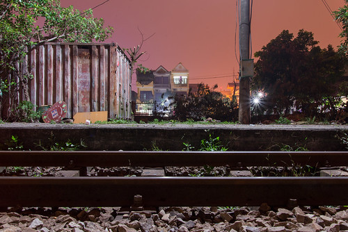 Rail at night by kewl