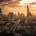 Bangkok at dusk by golfztudio