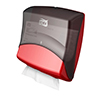 SCA 654008 Tork Folded Wiper / Cloth Dispenser Red/Black
