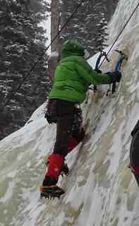 In the Middle Of My First Ice Climb