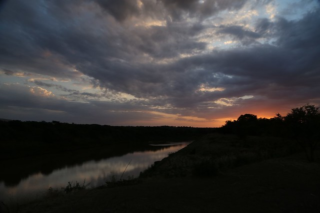 Sunrise over Omo River