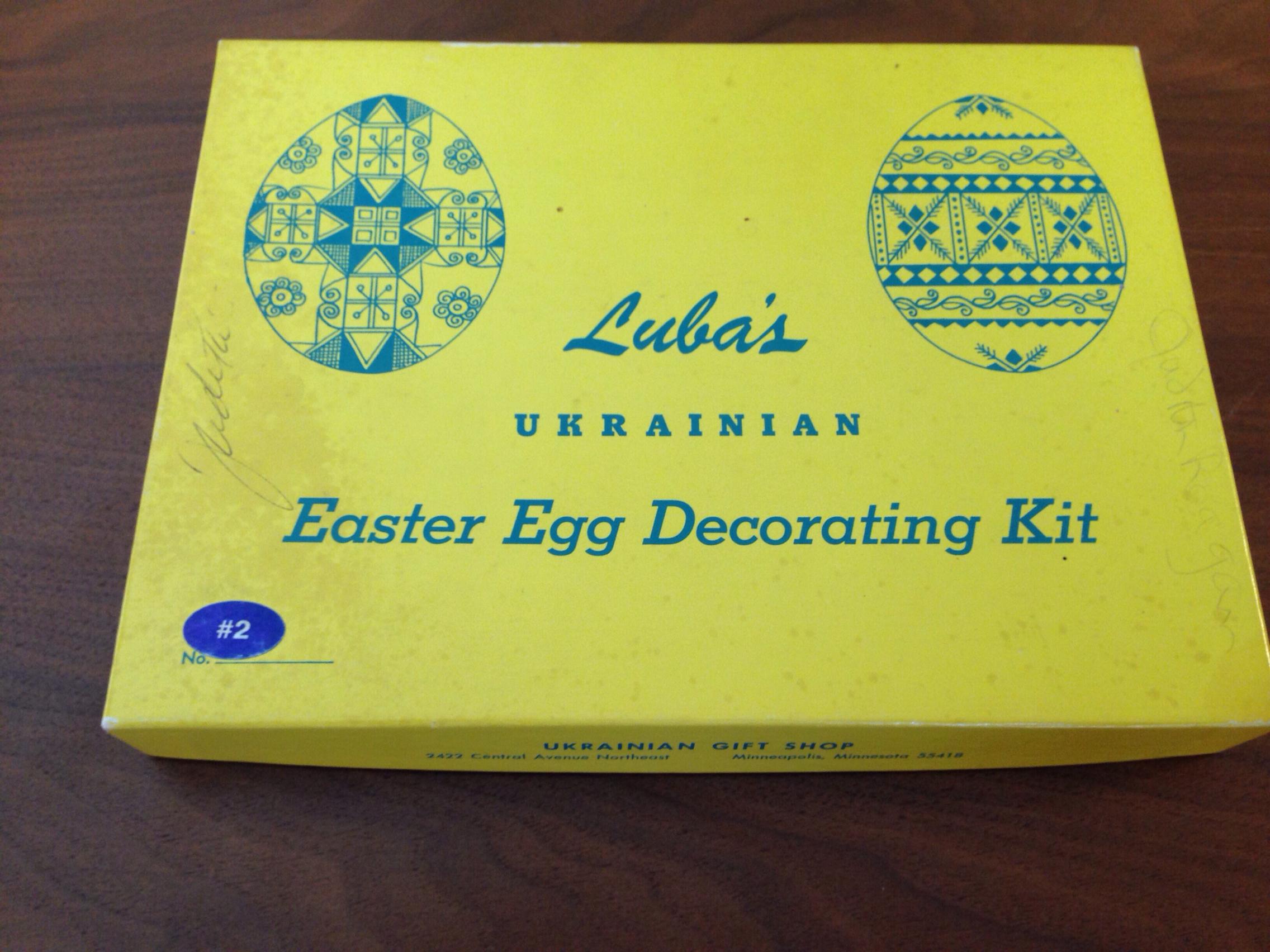 vintage egg decorating kit